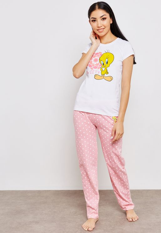 Tweety T-Shirt & Pyjama Set