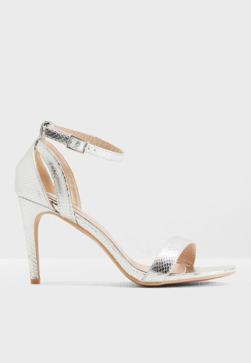 Betsy Mid Heel Stiletto Sandal