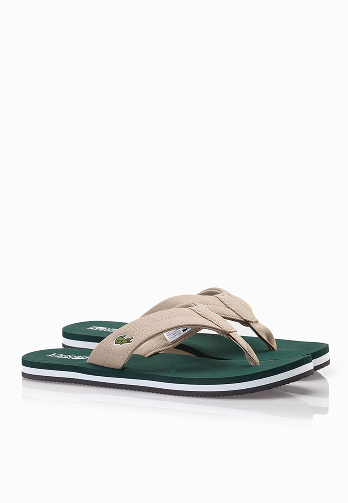81ca18daa Shop Lacoste green Randle TBR Flip Flops 29SPM0041-1R8 for Men in ...