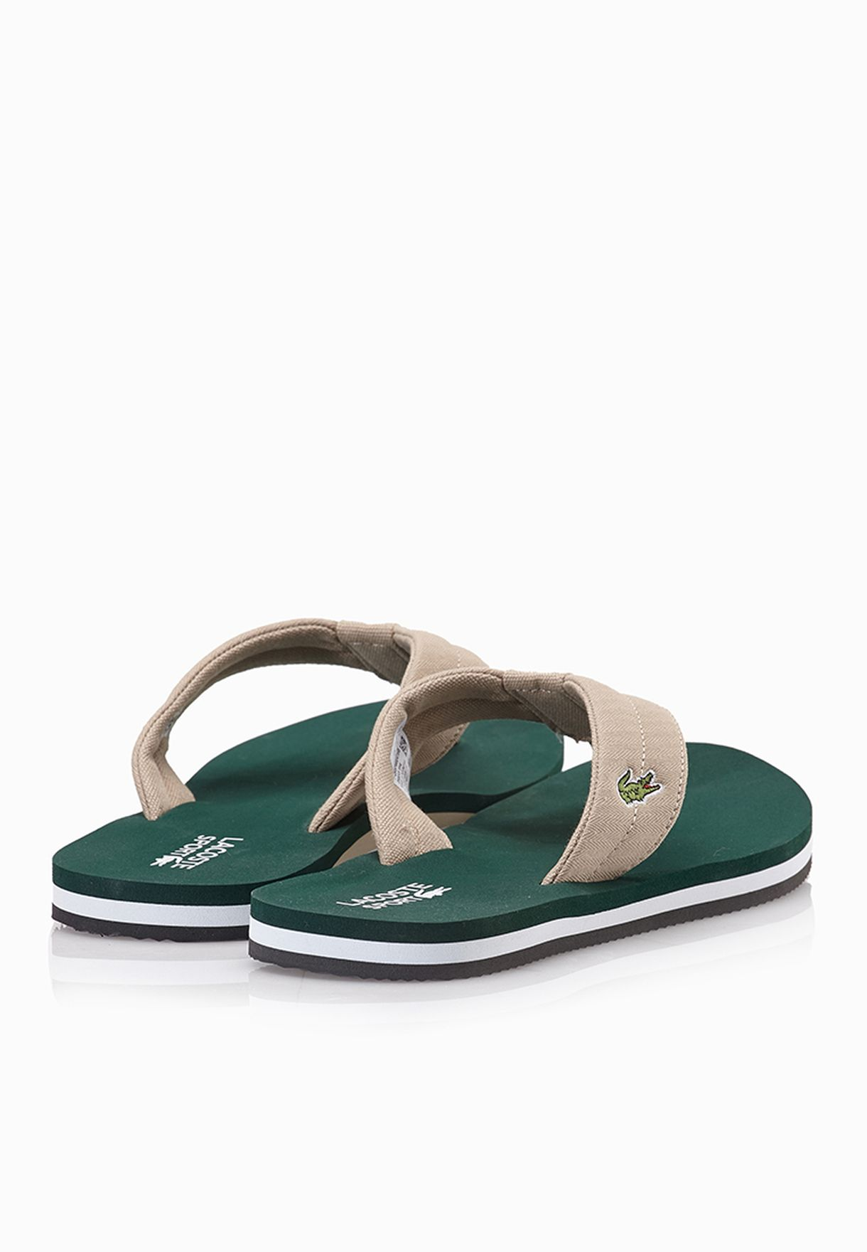 e5fd50c27 Shop Lacoste green Randle TBR Flip Flops 29SPM0041-1R8 for Men ...