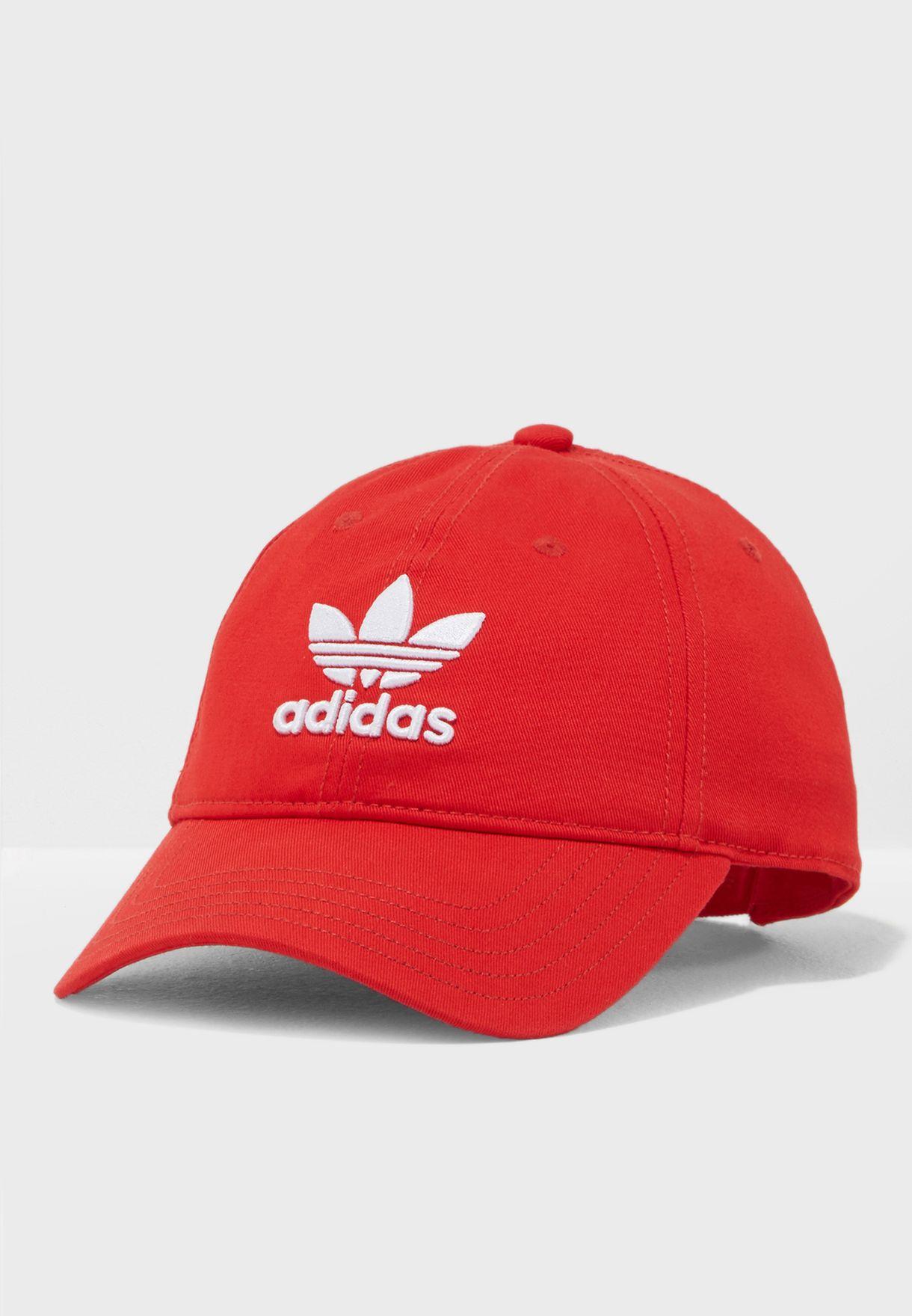 Shop adidas Originals red Trefoil Cap DJ0884 for Men in Kuwait -  AD478AC46WEF bf052c8eba4