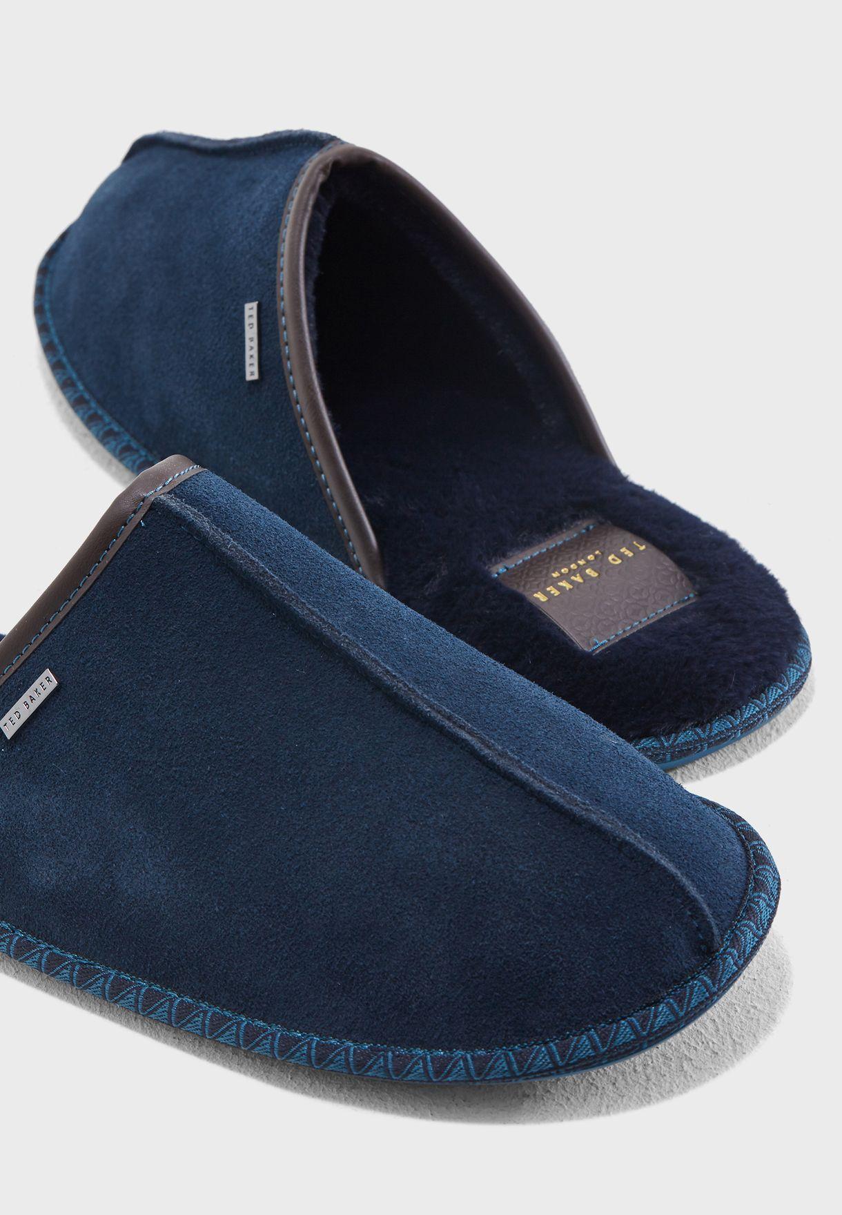 Buy Ted Baker Navy Parick Bedroom Slippers For Men In Mena Worldwide 9 17683