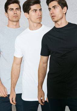 3 Pack Longline T-Shirts
