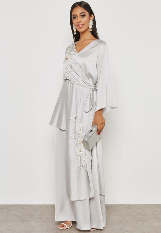 Embellished Tassel Detail Dress