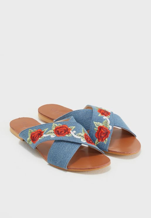 Sariah Rose Embroidered Sandal