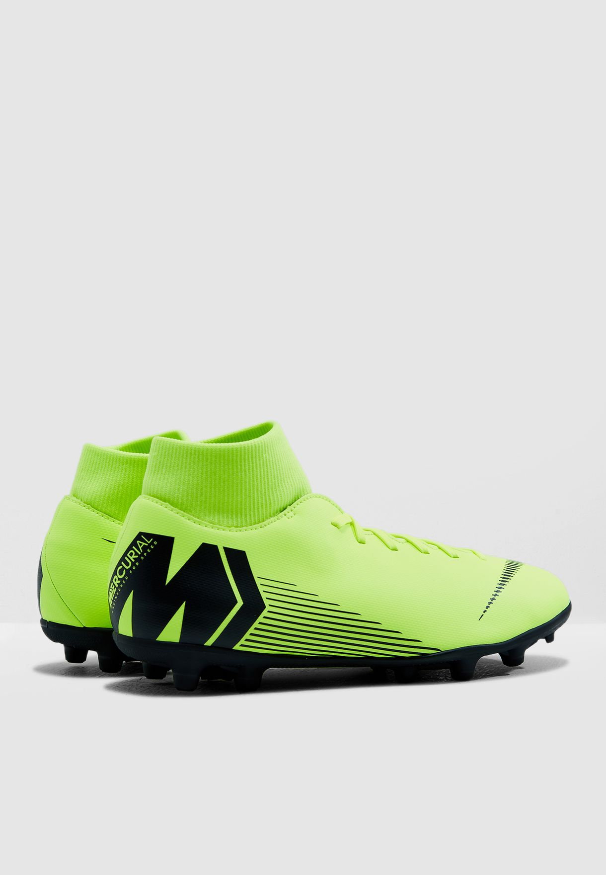 50fb2e779 Shop Nike green Mercurial Superfly 6 Club FG MG AH7363-701 for Men ...