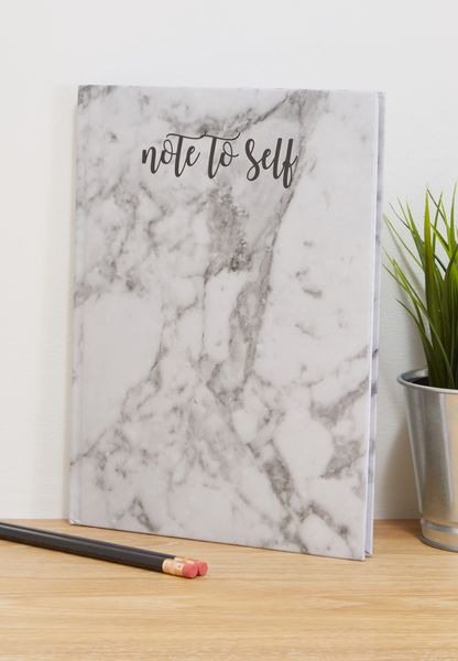 Note to Self Marble Notebook