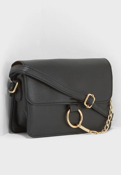 Flap Over O Ring Crossbody