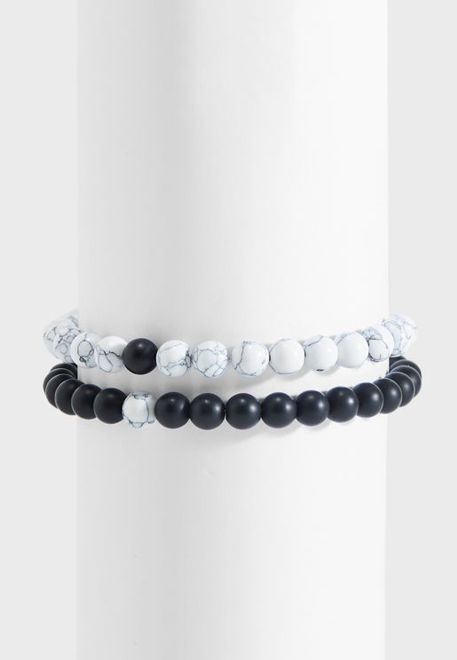 2 Pack Beaded Bracelet Set