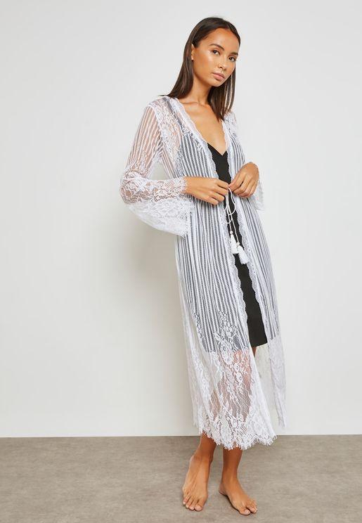 Lace Detail Robe