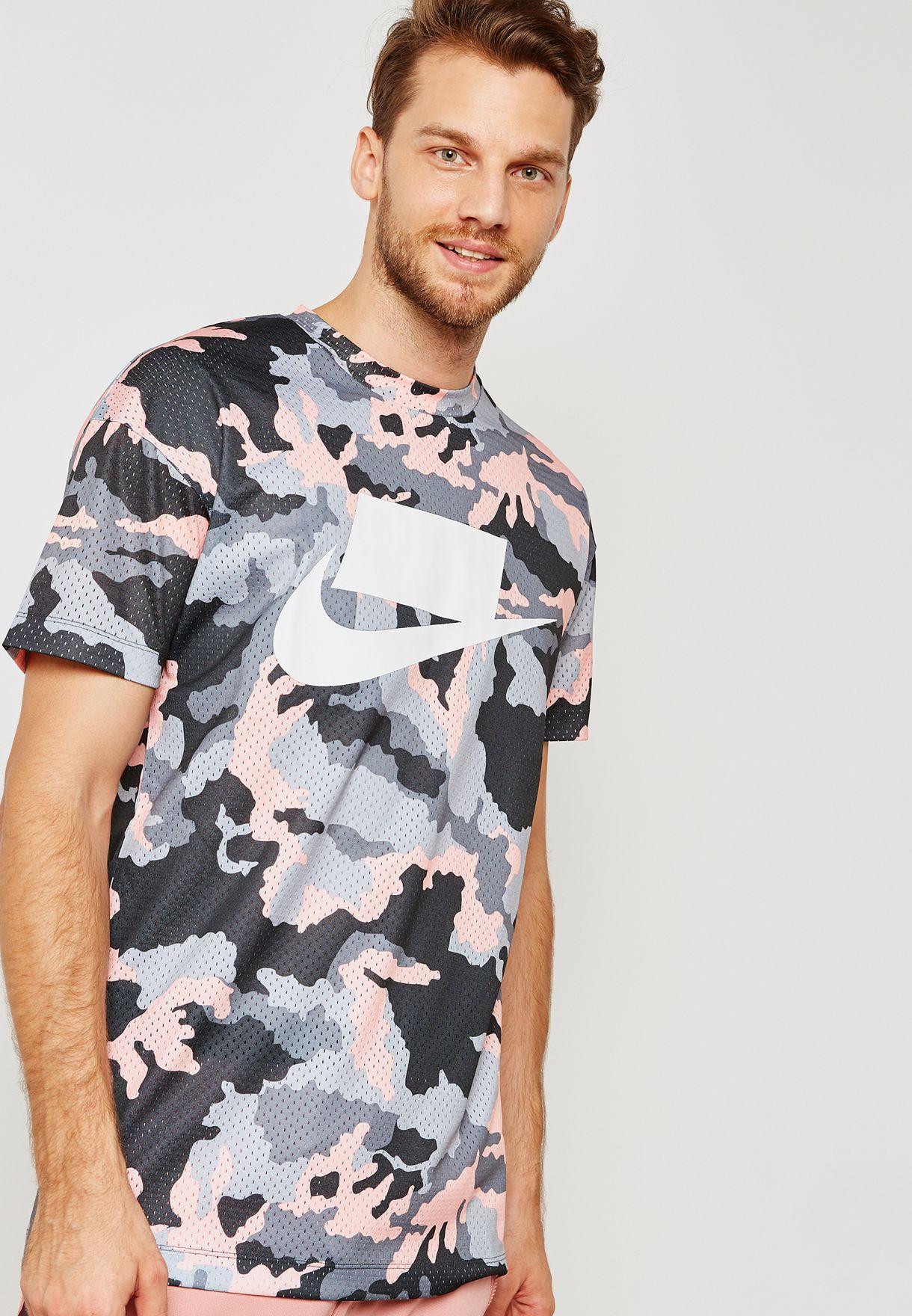 0b63668d7db2e1 Shop Nike prints Mesh Camo T-Shirt 928627-060 for Men in Saudi ...