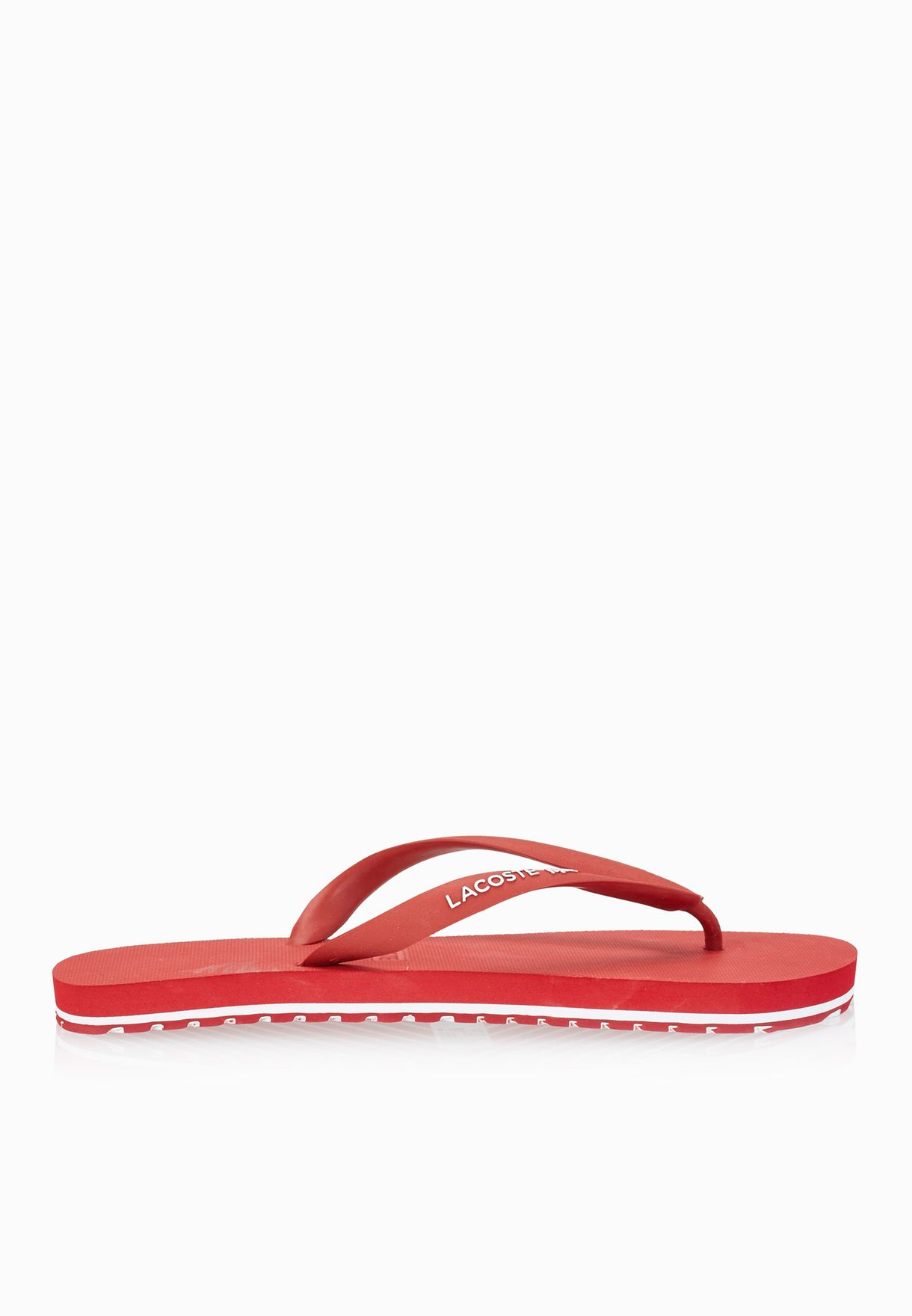 66fec75a7746 Shop Lacoste red Nosara Lcr Flip Flops 27SPM1083-Y80 for Men in UAE ...