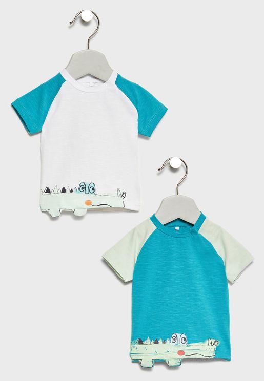 Infant 2 Pack Crocodile T-Shirts