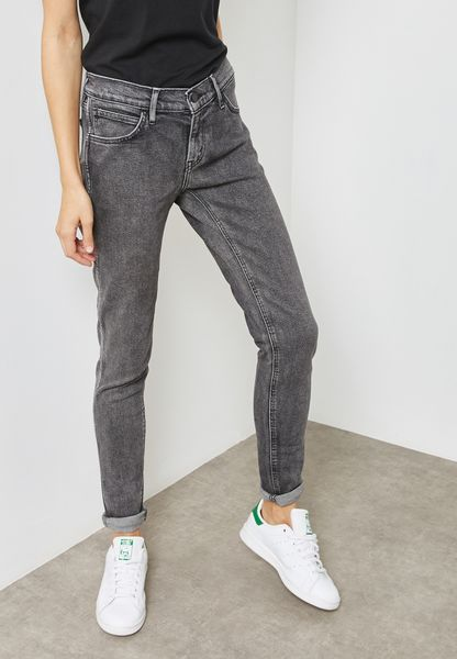 Line 8 Mid Rise Skinny Jeans