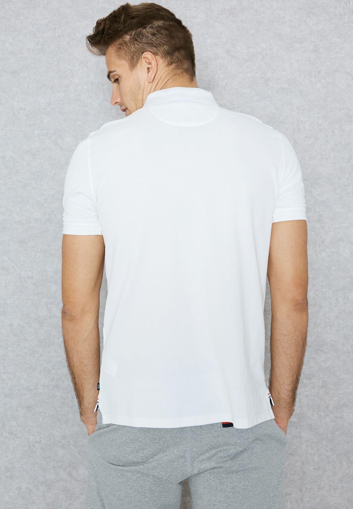 Shop Beverly Hills Polo Club white Logo Print Polo M2666 for Men in ... a8d791c6e3d