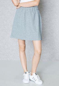 Slogan Embossed Skirt