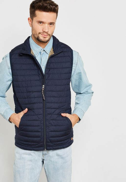 Tab Quilted Gilet