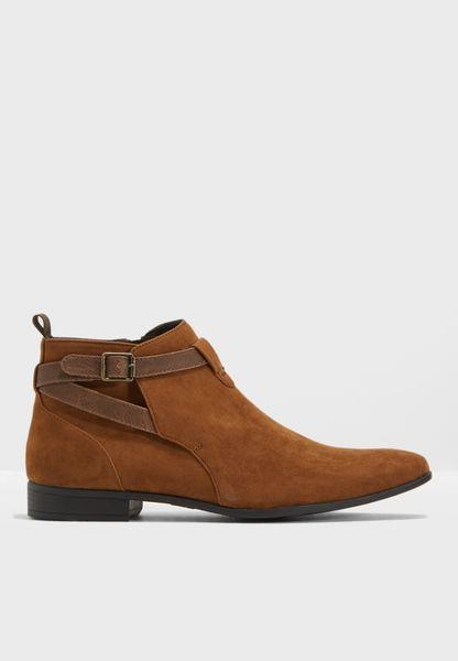 Tristen Tanner Strap Boots