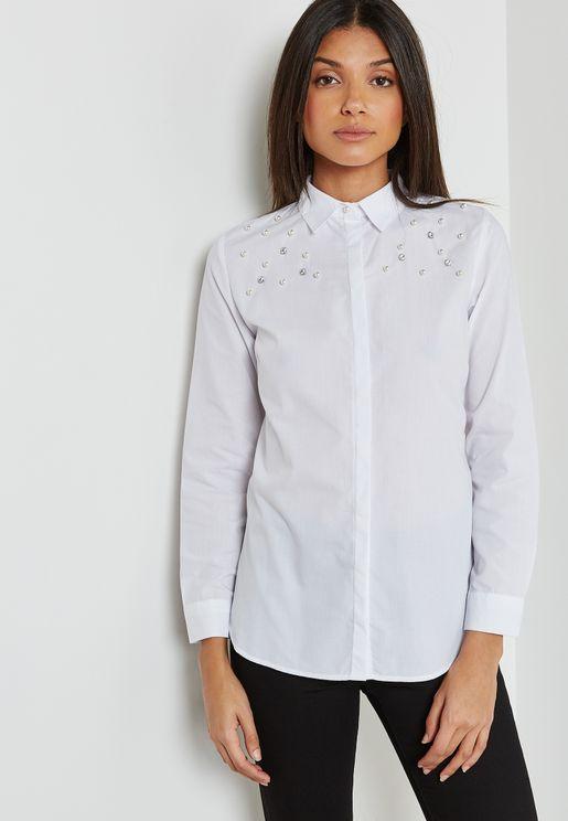 Pearl Detail Shirt