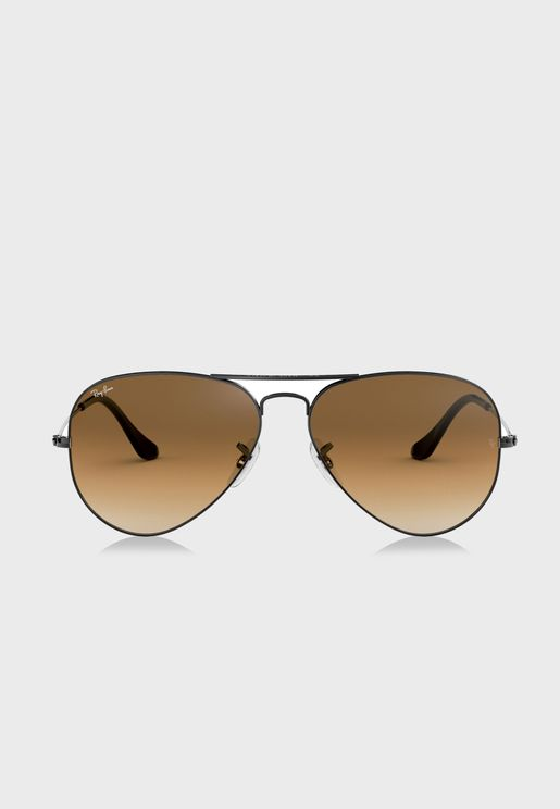 0RB3025 Aviator Gradient Sunglasses