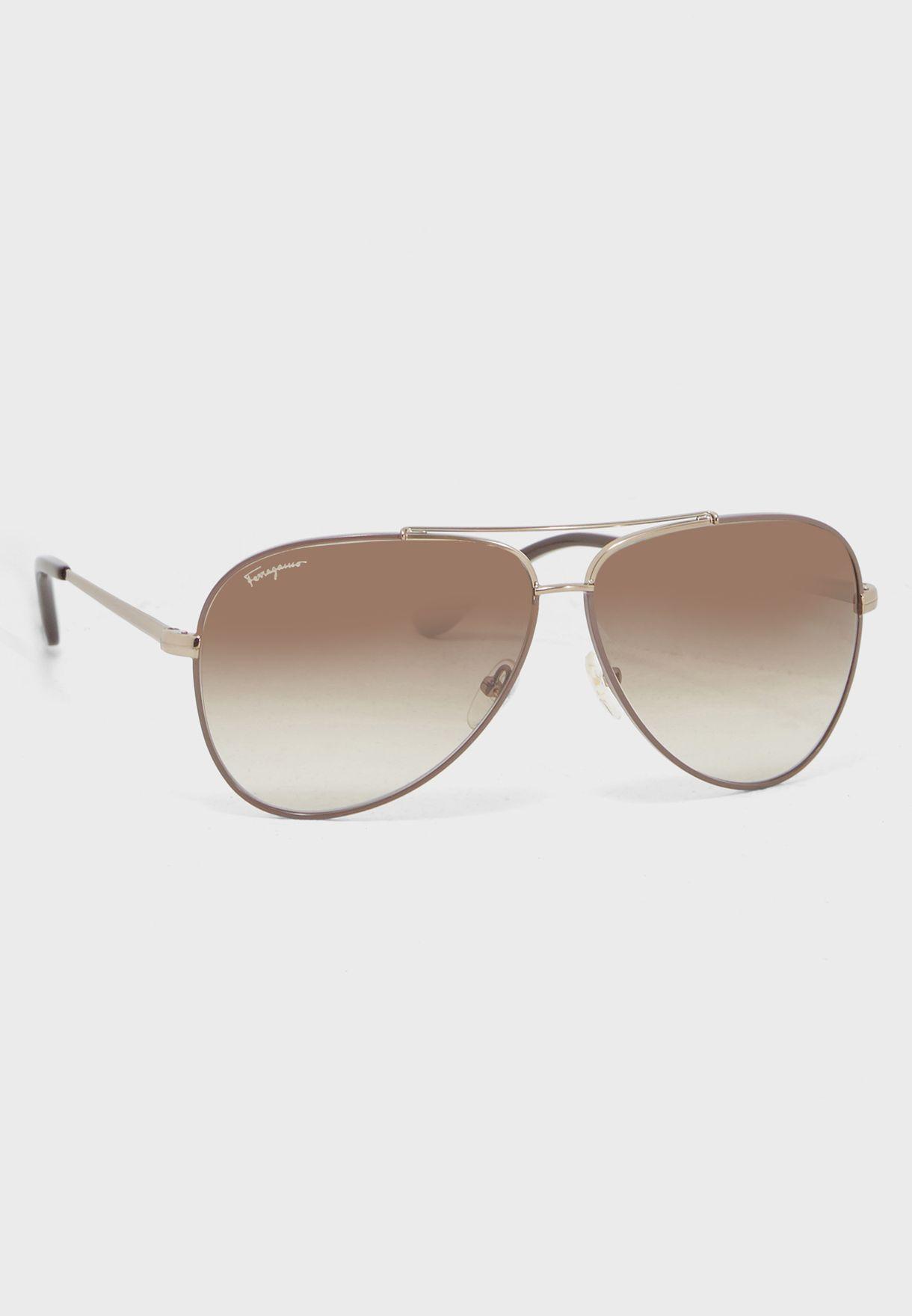 8eb634296e6d Shop Salvatore ferragamo brown Aviators SF131SP-211 for Men in UAE ...