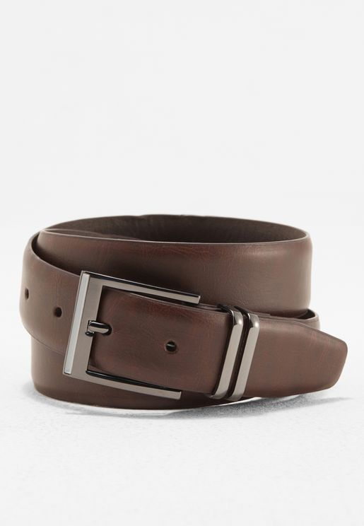 Double Keeper Leather Belt