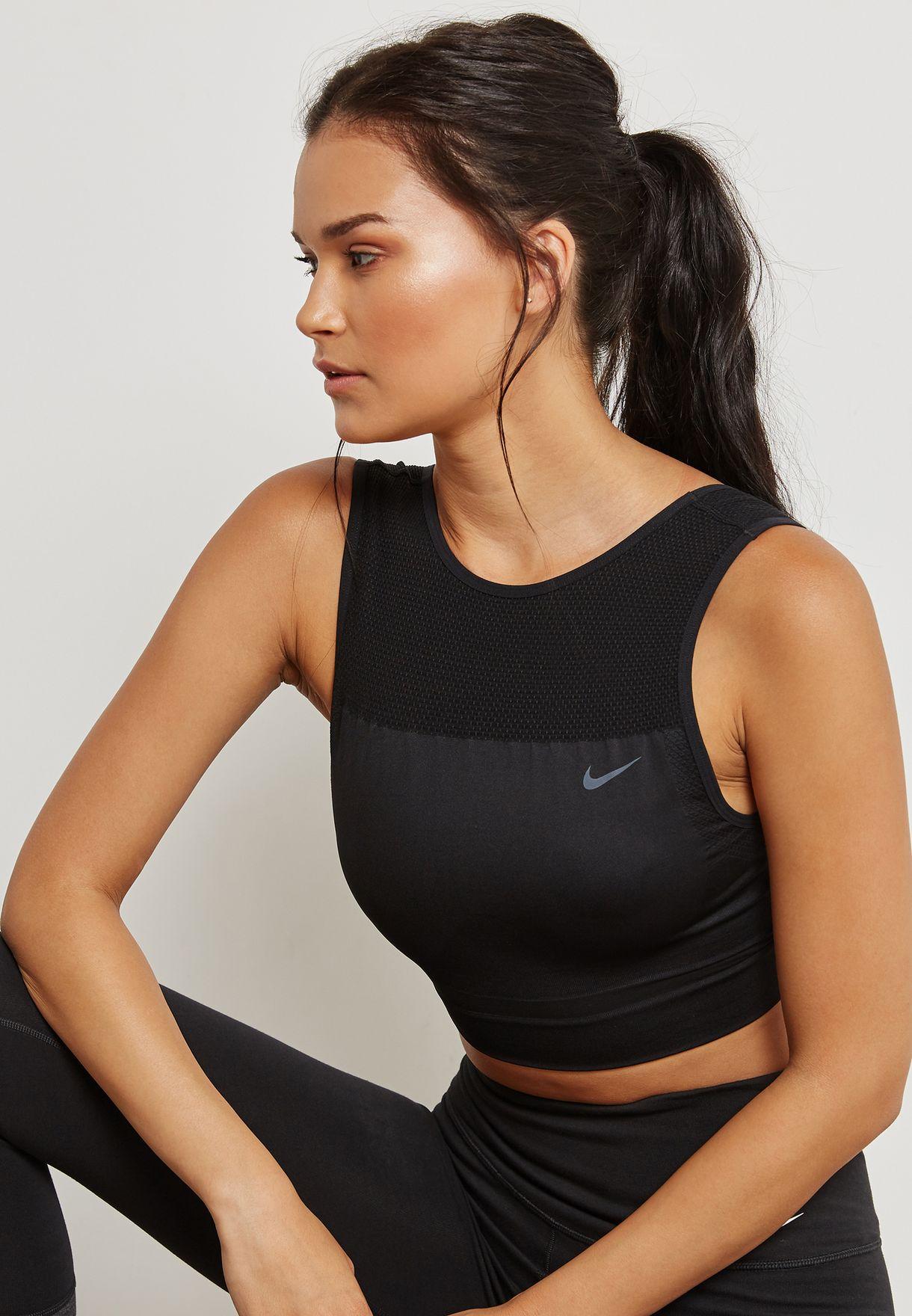 d4ec0a4c15539d Shop Nike black Dri-FIT Tank 898063-010 for Women in UAE - NI727AT36JTN