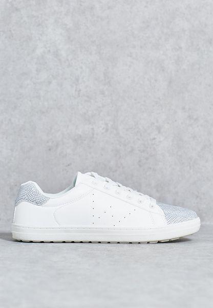 Metallic Toe Cap Sneakers