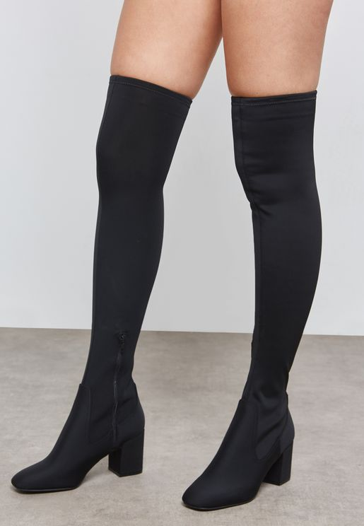 Square Toe Knee Boot