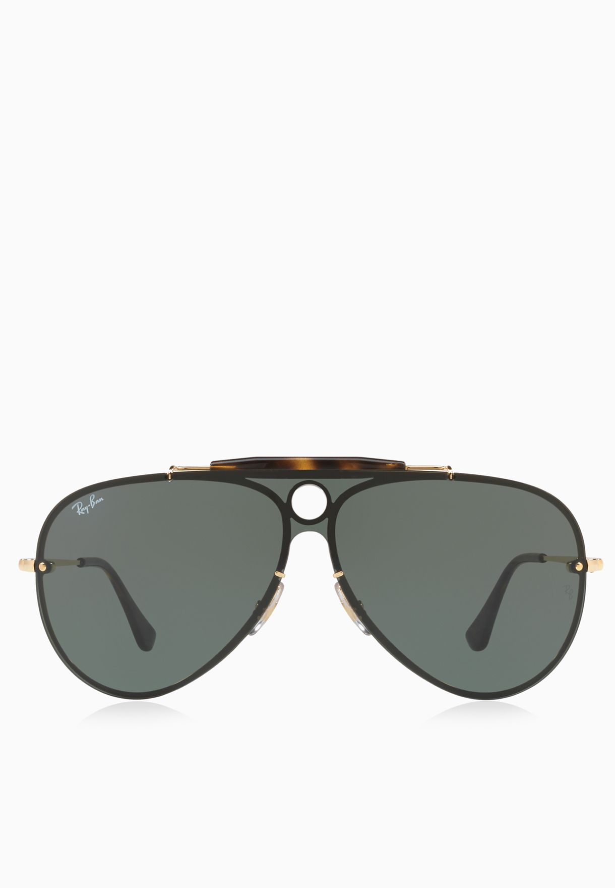 bf0316cf71487 Shop Ray-Ban gold 0RB3581N Blaze Shooter Sunglasses 8053672768770 for Men  in UAE - RA736AC36PWL