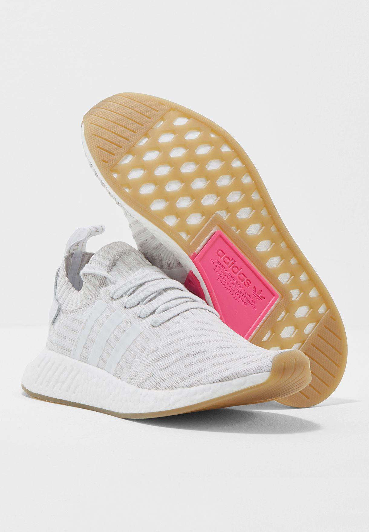 023dd888b Shop adidas Originals white NMD R2 PK W BY9954 for Women in UAE ...