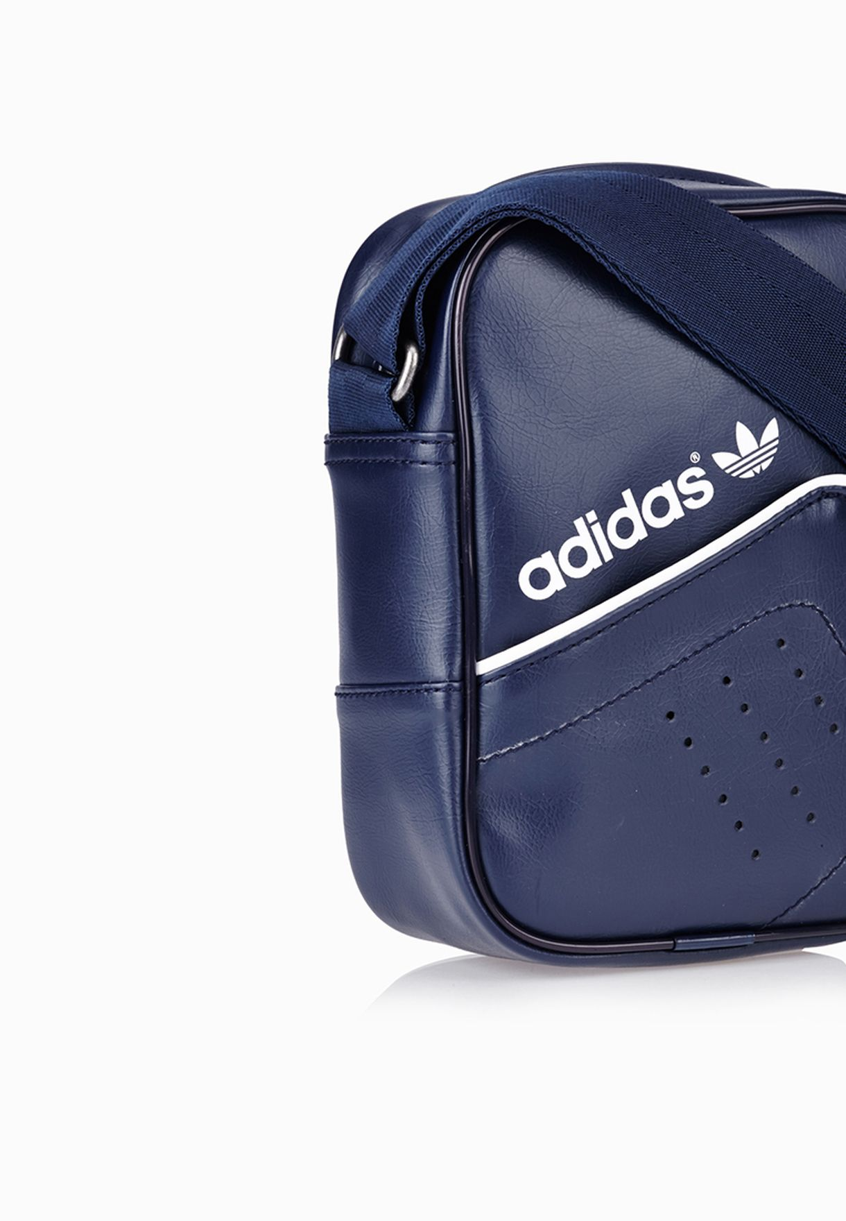 60fb04aa2883 Shop adidas Originals blue Performance Mini Messenger AB2842 for ...