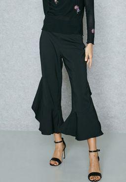 Ruffle Detail Pants