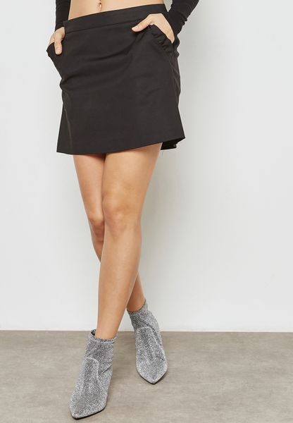 Ruffle Trim Mini Skirt