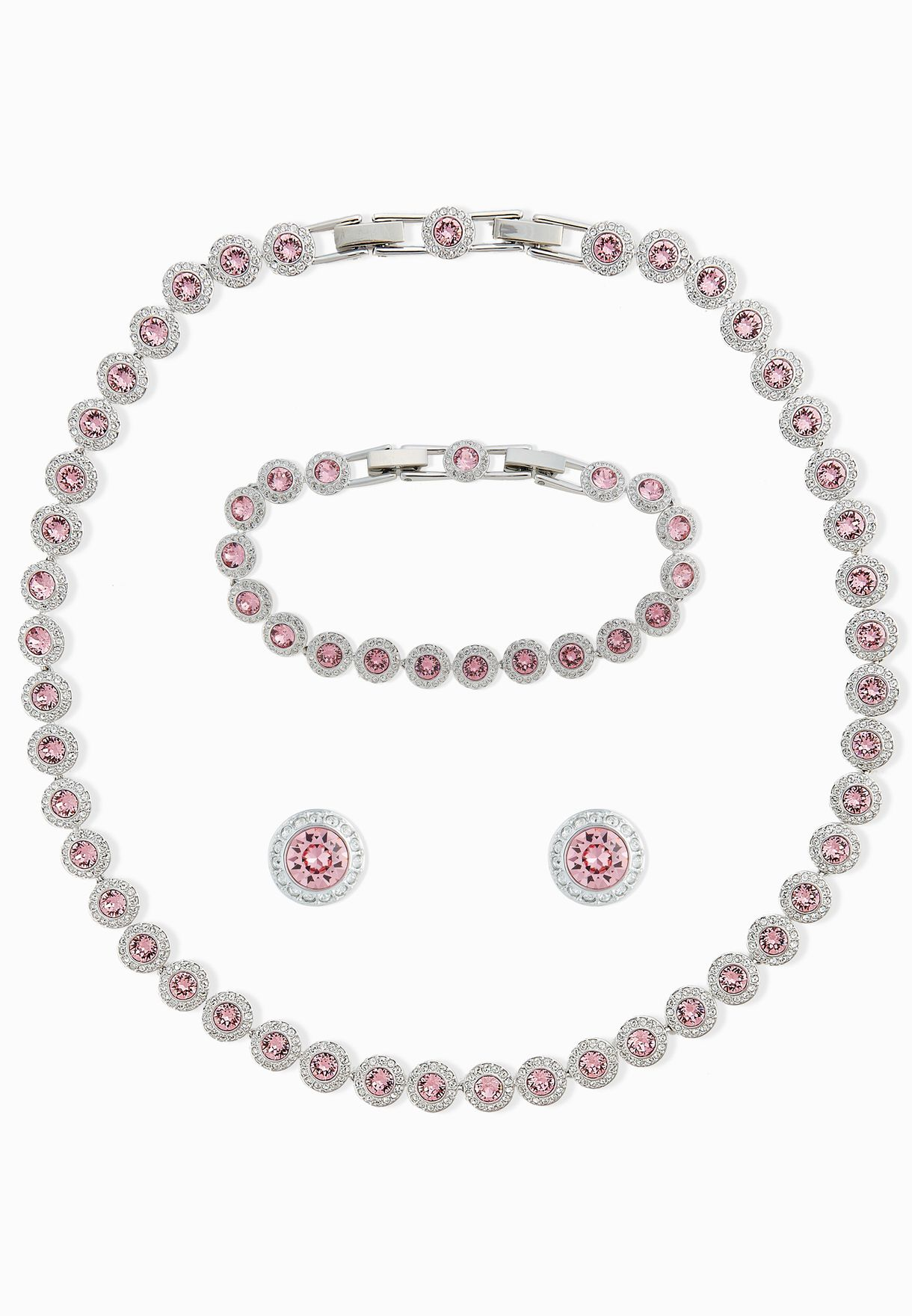4dd70b04c Shop Swarovski silver Angelic All Around Necklace+Earrings Set ...