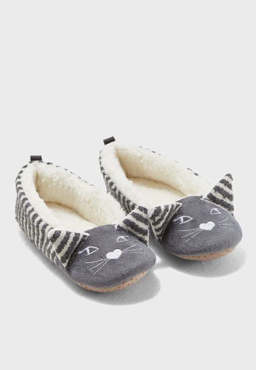 Two Tone Cat Ballet Slip On