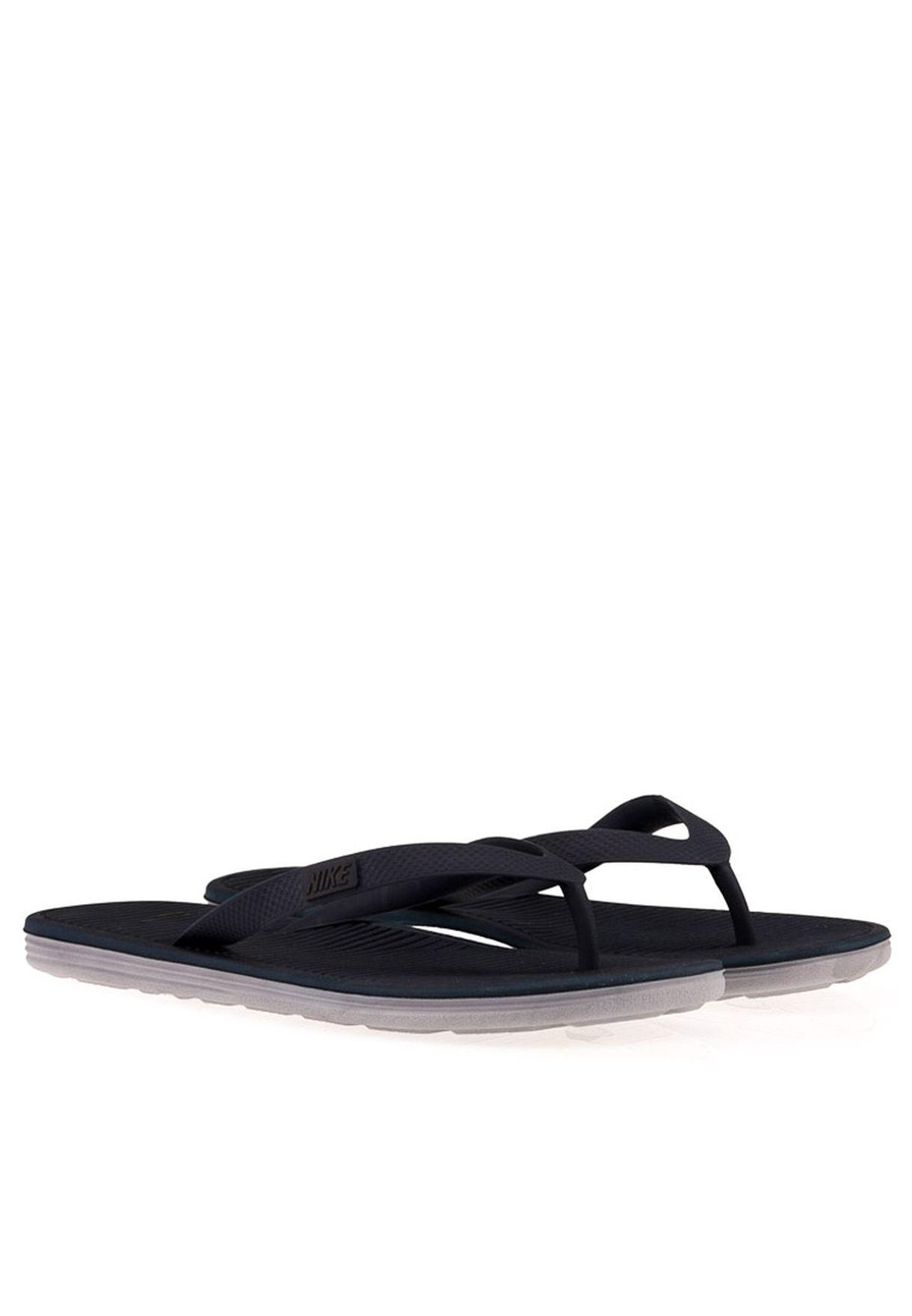 feed3931006 Shop Nike black Thong II Flip Flops 488160-404 for Men in Qatar ...