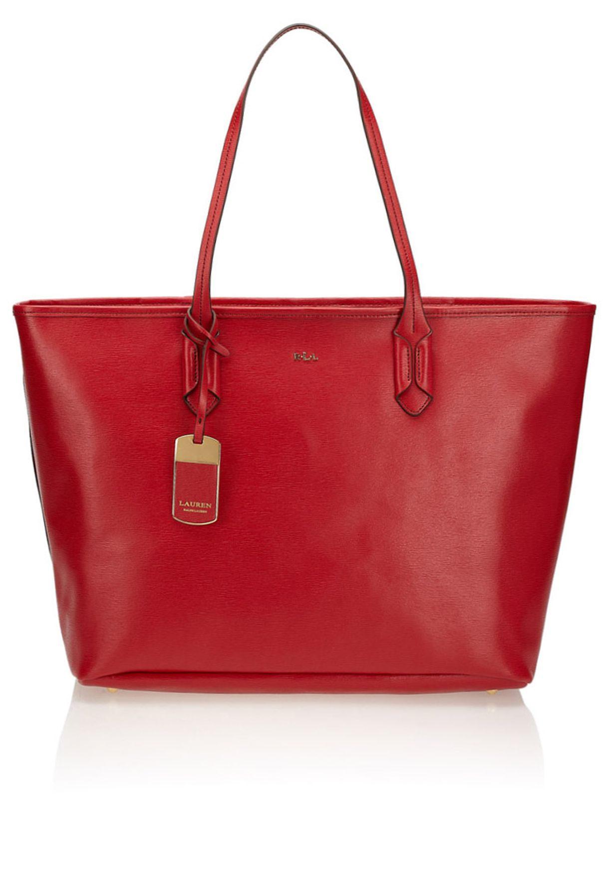 a70047e968d0 Shop Lauren Ralph Lauren red Tate Tote 431186102NCK for Women in UAE ...