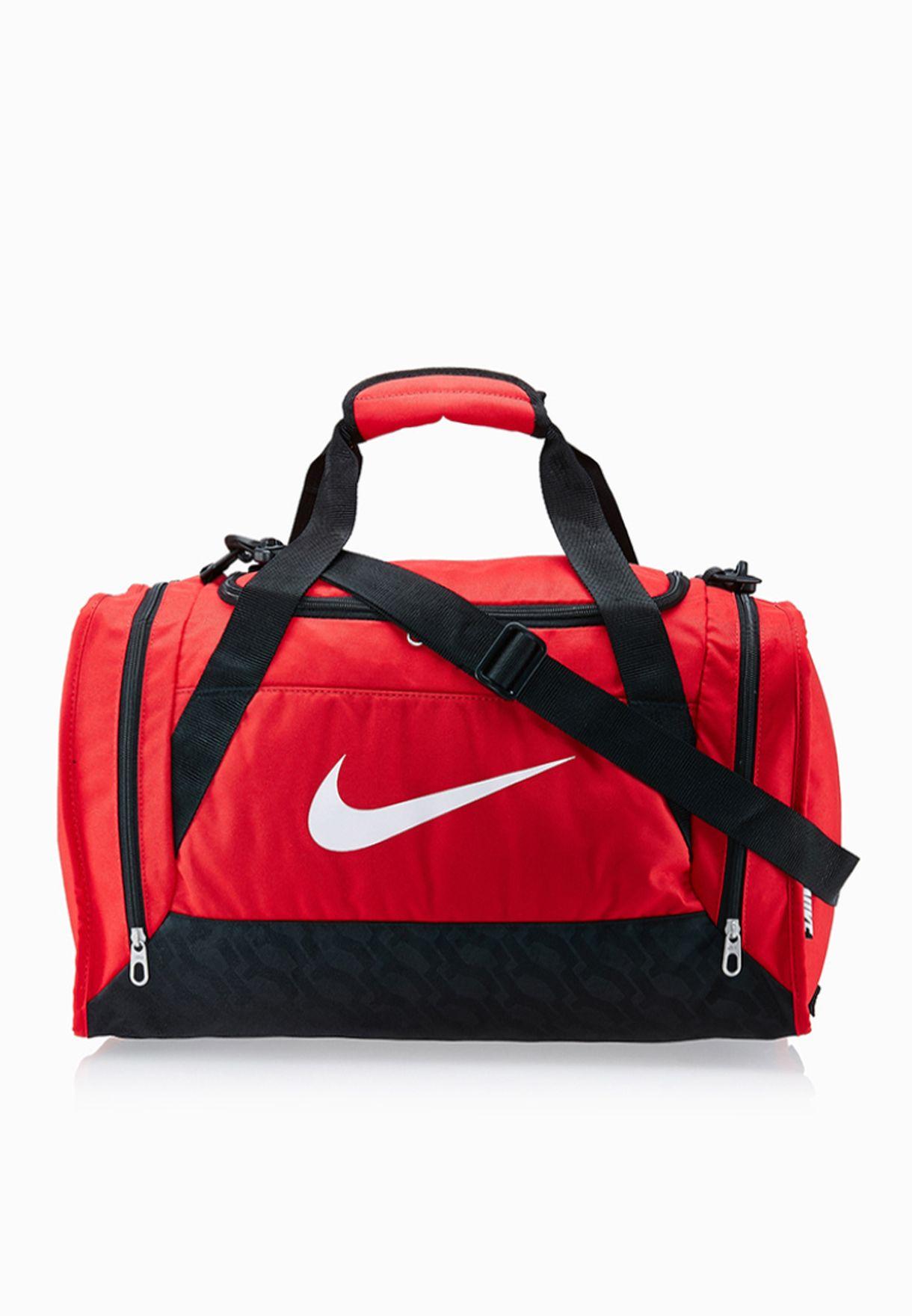 f53b0894ba31 Shop Nike grey Small Brasilia 6 Duffel Bag BA4831-601 for Men in Oman -  NI727AC36URV