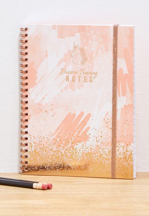A5 Unicorn  Splatter Notes Spinout Notebook