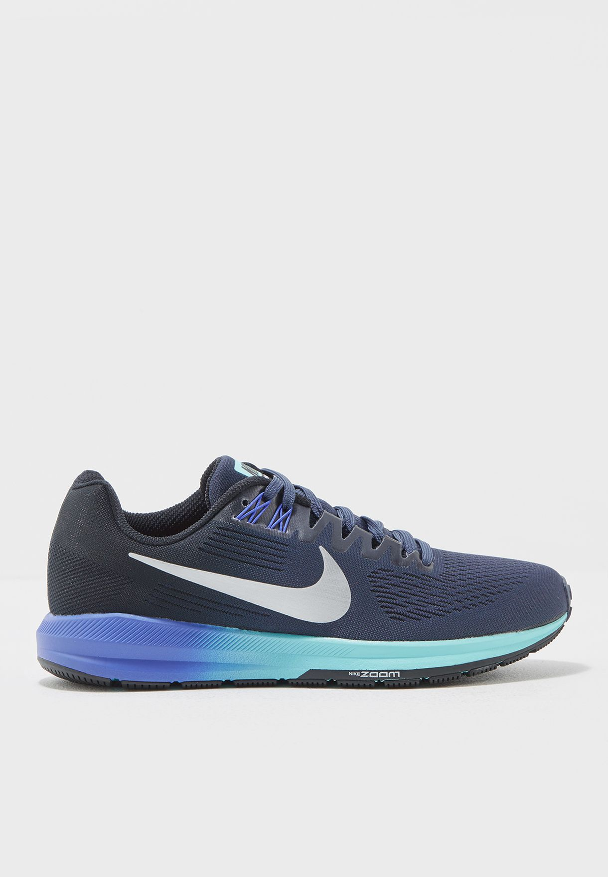 d2882f1890e Shop Nike navy W Air Zoom Structure 21 904701-401 for Women in UAE ...