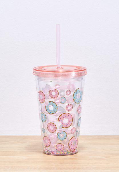 Donut Straw Cup 500ml