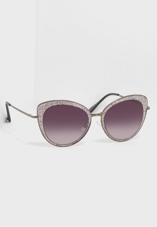Glitter Cateye Sunglasses