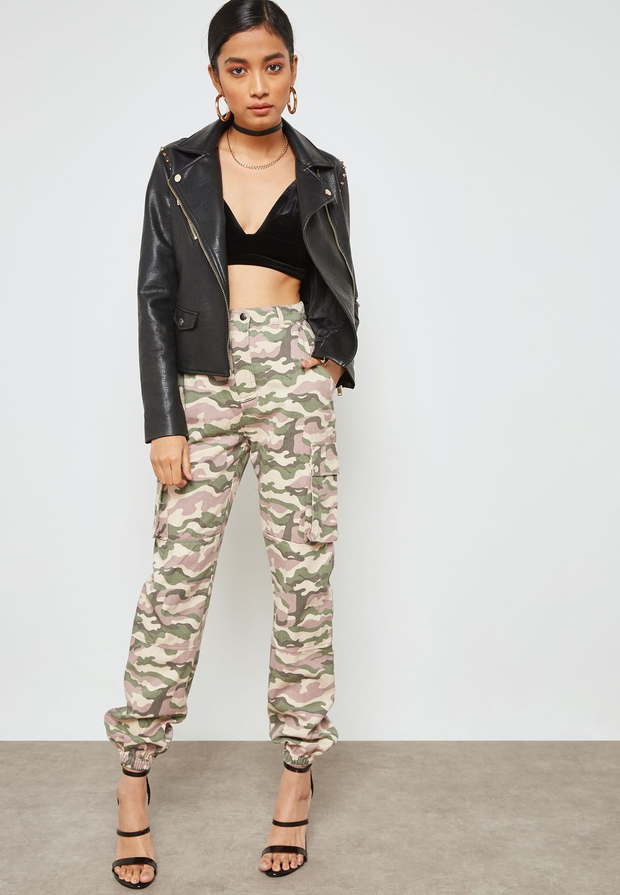 8389ea79d2b07 Shop Missguided prints Camo Print Cuffed Pants WSr9338898 for Women ...