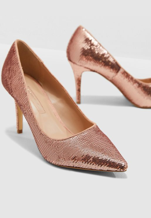 Ezzy Sequin Court Shoe