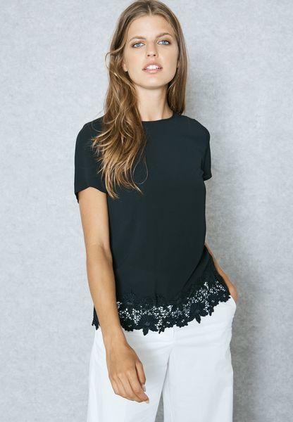 Crochet Trim T-Shirt