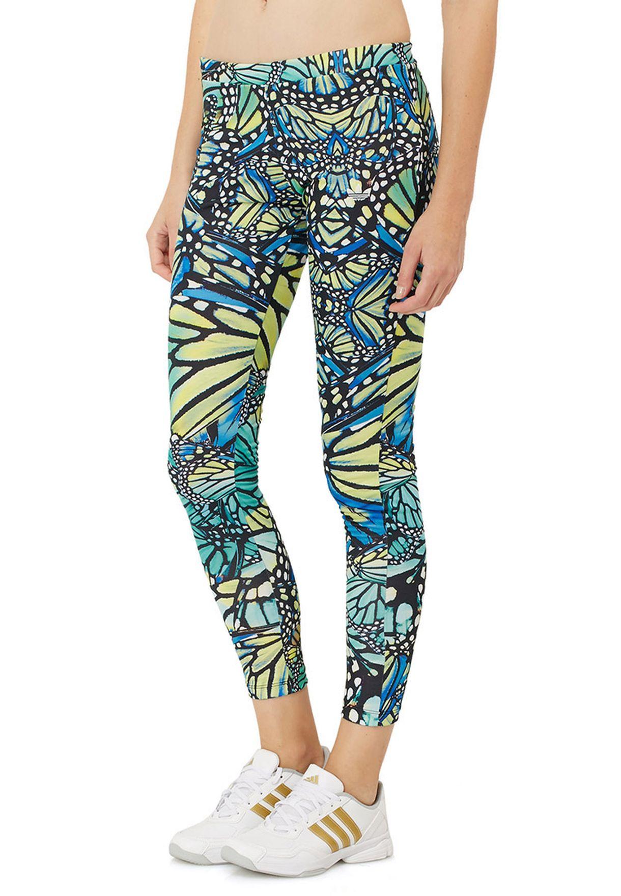 143957f91585c8 Shop adidas Originals multicolor Butterfly Print Leggings M69750 for ...
