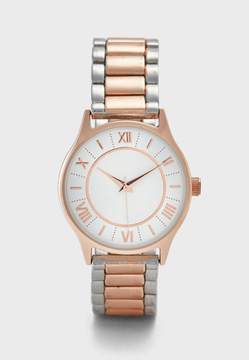 Two Tone Metallic Watch