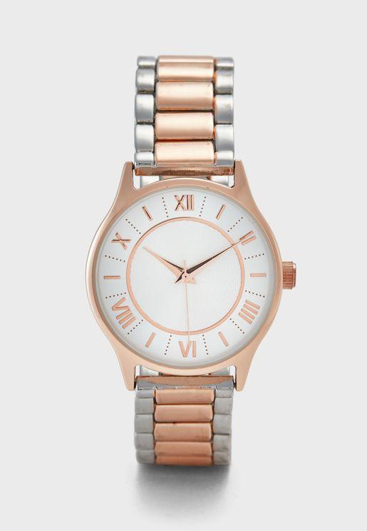 Two Tone Metallic Watch