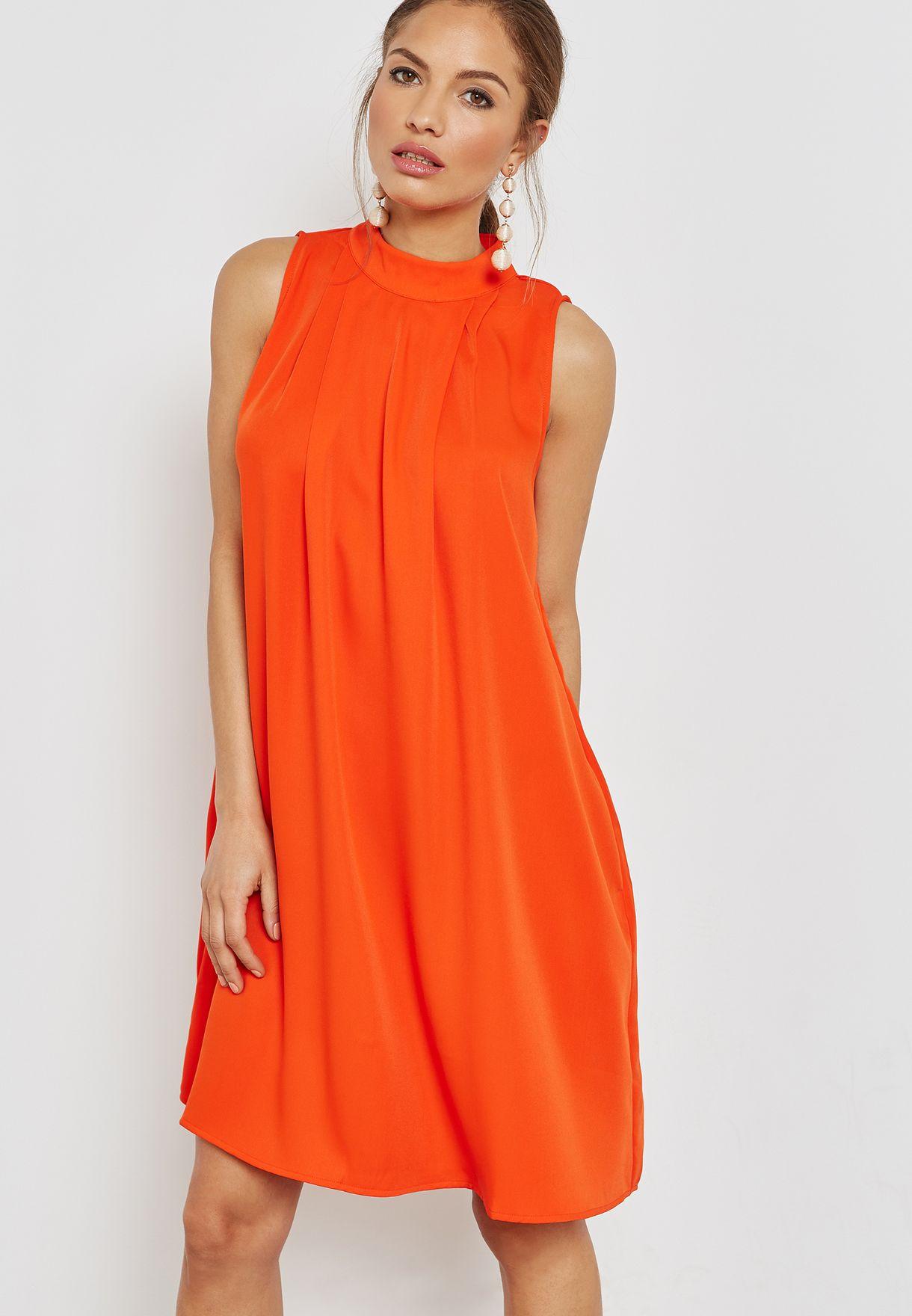 adedaa847868e5 Shop Yas orange Pleated Dress 26010751 for Women in Saudi - YA500AT36QBZ